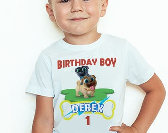 Puppy Dog Pals Custom Birthday T-Shirt Puppy Dog Pals Birthday Boy Personalized Shirt
