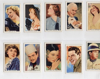"Full set of 48 ""Portraits of Famous Stars"" Cigarette Cards from 1935"