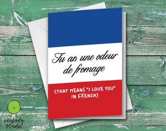 You Smell Like Cheese Funny Greeting Card - Birthday, Anniversary, Valentines, Love, Romance, Friend, Peabody Studio Card