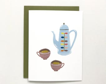 Tea Time - Love Card, Anniversary Card, Birthday Card