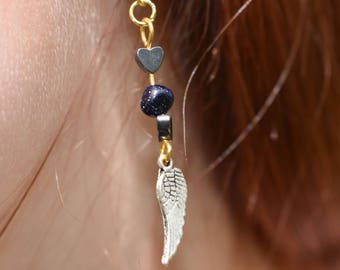 Silver Wing Earrings.