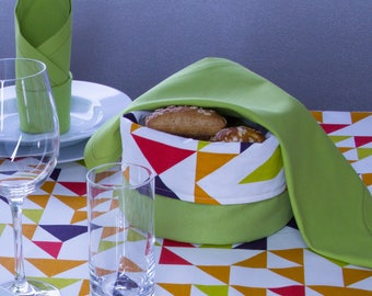Colourful turn bread basket Ø 20 cm