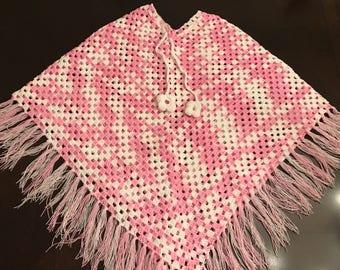 kids ponchos,crochet poncho, handmade poncho, knit (5-7 years old)