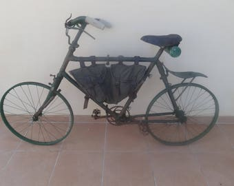 VERY RARE BIANCHI Military Folding Bicycle 'Model 1912', Italy Spring Frame Bike, The Bersaglieri Cycle Troops