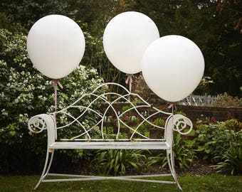 Jumbo White Balloons, Wedding Balloons, 36 Inches, 3 Pack, Party Balloons, Feature Balloons