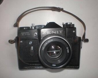 Zenit TTL with Helios - 44m camera ussr vintage soviet rangefinder 35mm