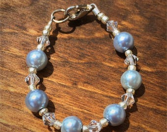 Blue Pearl Infant Bracelet