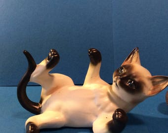 Collectible Lefton Vintage Siamese Kitten Figurine