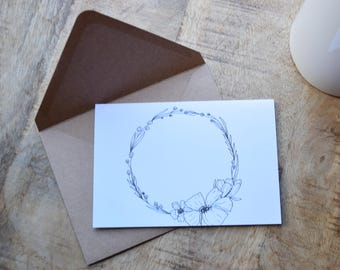 Poppies and Baby's Breath Card