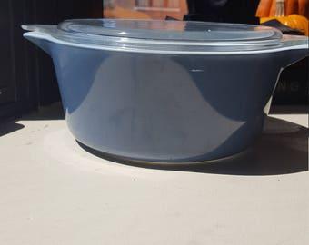 Pyrex slate blue 475 casserole