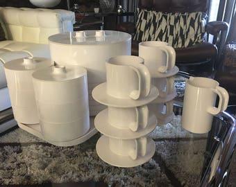 MASSIMO VIGNELLI For Heller  1964 dinnerware  FULL set for 6