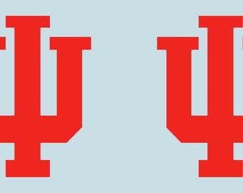 IU Indiana University Hoosiers Large Cornhole Decals / Set of 2 - pick color