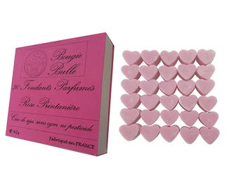 30 fondant Parfumes Rose spring burning wax from soy natural perfume