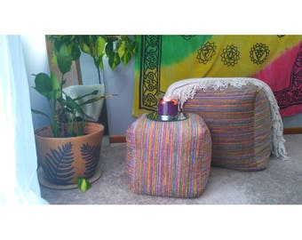 Colorful Boho Ottoman
