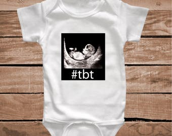 TBT Onesie Tee Tees T-shirts Funny Baby Clothes Toddler Crawlers Body Suit, Through Back Thursday Baby Clever Clothes Tees T-shirts, aa12