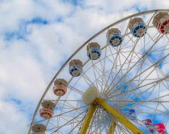 Ferris Wheels|Blank Greeting Cards|R.C. Photography