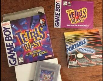 Nintendo Game Boy Gameboy Tetris Blast w/Box & Inserts MINT