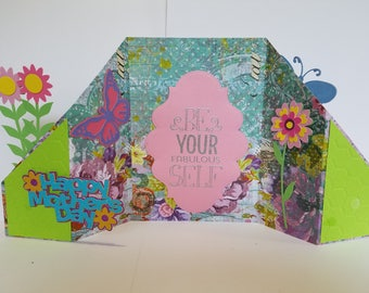Handmade mothers day greeting card