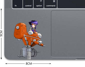 Ghost In The Shell Decal MacBook Decal MacBook Sticker Trackpad Decal Laptop Decal Laptop Sticker Pro Touchpad Sticker Major Matoko bn527