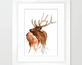 Drippy Elk Print