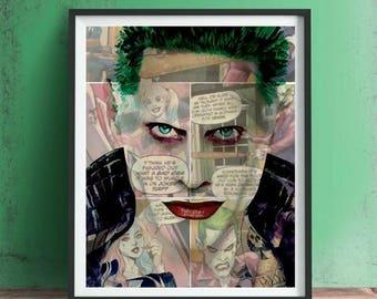 Joker Jared Leto Suicide Squad Print or Canvas, Wall Art, Artwork, Gift