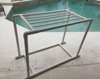 6 towel PVC drying rack