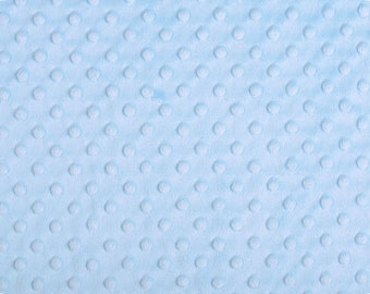 Blue Minky Fabric from Shannon Fabrics -Dimple Minky- Perfect for Nursery Baby