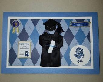 UNC tar heels graduation card