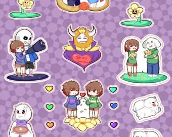 Undertale Sticker Sheet