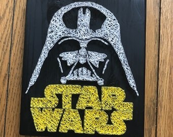 Star Wars and Darth Vader String Art.