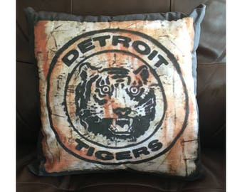 Vintage Detroit Tiger Pillow