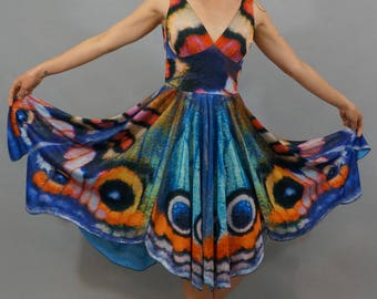 Watercolor Butterfly Dress