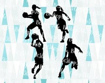 Basketball players SVG, Basketball SVG, Women's basketball SVG, Basketball women players, Instant download, Sport Svg, Eps - Dxf - Png - Svg