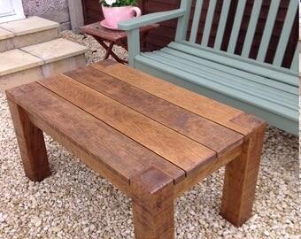 Solid Oak Garden Coffee Table