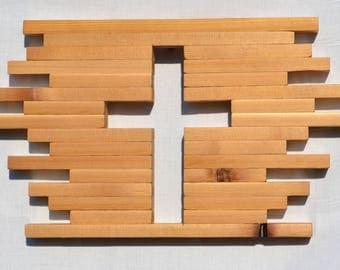 Cedar Wood Cross Cutout