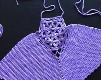 Festival top 100% cotton crocheted halter top
