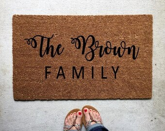 Custom Coir Doormat, Monogram Doormat, Wedding Gift, Personalized Doormat