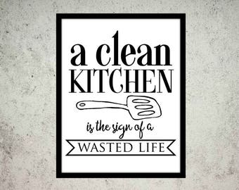 Custom Quote Print Fun Art Wall Kitchen  Art Poster Print Motivational Quote  Home Decor Shower Gift Quote Print Typography Gift For