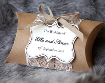 Lace wedding favour