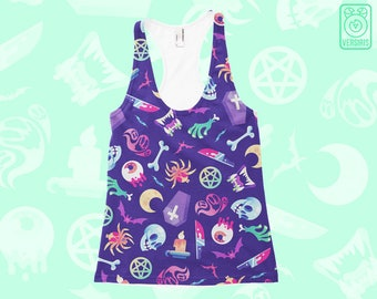 Horroriffic TANK TOPS Horror Pattern // All-Over Print // Pastel Goth // Witchcraft // Grunge Punk // Mens & Womens Sizes // Gifts for Her