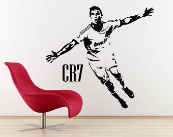 Ronaldo decal etsy for Cristiano ronaldo wall mural