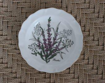 Fine bone china pin dish (small plate) St.Andrews pottery, Scottish china