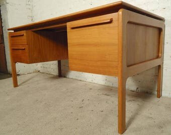 Danish Mid Century Modern Desk by Danflex Systems c1965