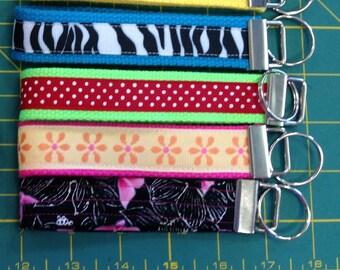 wristlet key fobs, handmade, variety