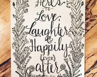 Happily Ever After Farmhouse wedding sign