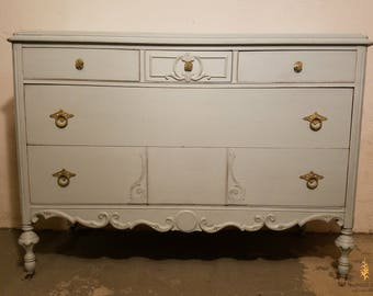 THIS ITEM SOLD*** Vintage Refinished Dresser