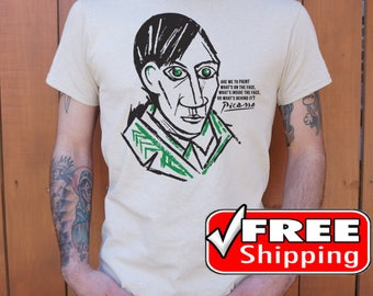 Picasso T Shirt, Pablo Picasso Shirt, Art Shirt, Painting Tee, Cool Shirt, Free Shipping Worldwide, New, For Men And Women, Size S, M, L, XL