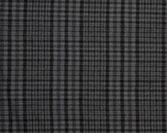 Flannel Shirtings // Grey/Black Flannel Fabric // Half Yard