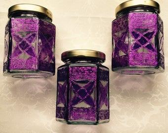 Purple Art Deco glass set