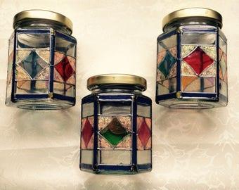 Multicolour jars set Art Deco style